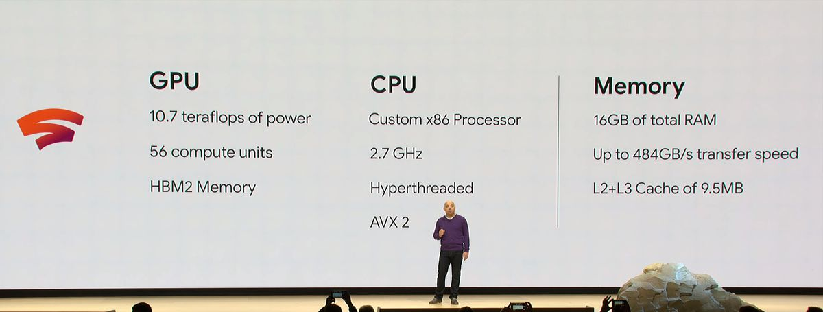 Google Stadia uses a custom AMD chip to offer 10.7 teraflops of cloud gaming power
