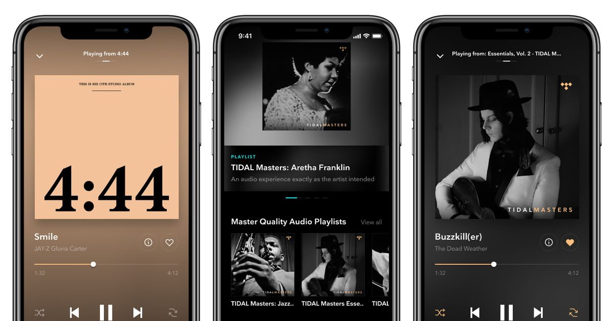 Tidal's Master quality recordings are now available on iOS