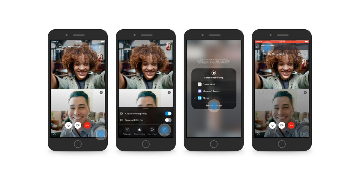 Skype now lets you share your Android or iOS phone screen on video calls