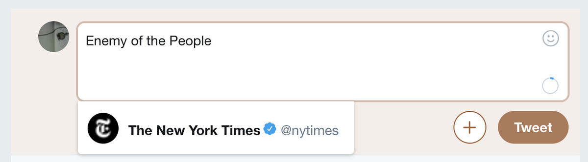 Twitter, New York Times: Enemy of the people