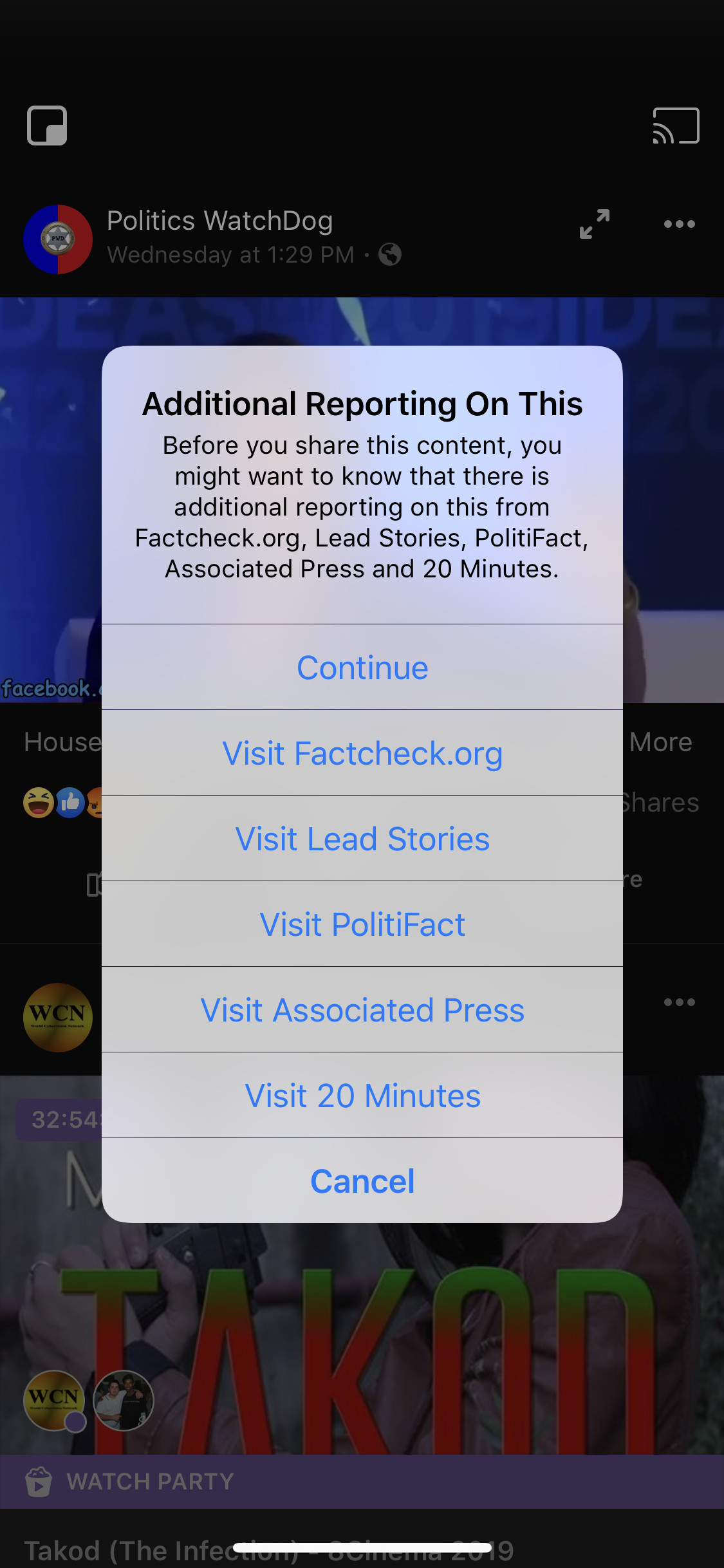 Facebook begins telling users who try to share distorted Nancy Pelosi video that it's fake