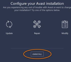 How to uninstall Avast that can not be deleted