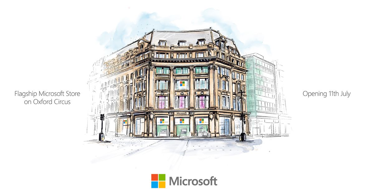 Microsoft's first European store opens on July 11th in the heart of London