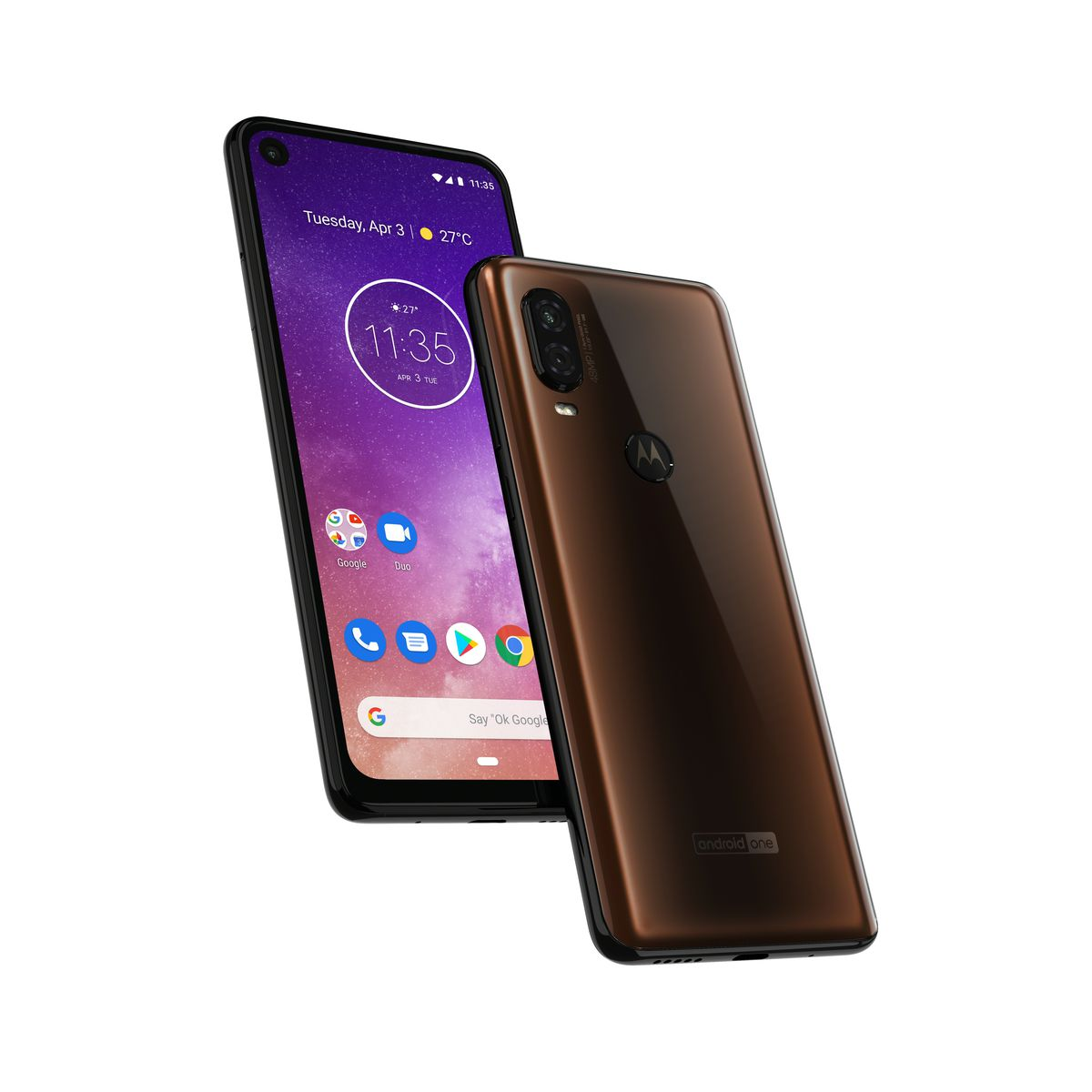 the motorola one vision has a 219 screen and looks less like an iphone clone