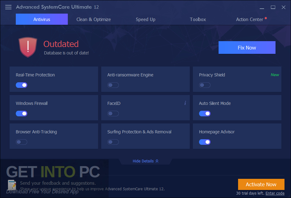 Advanced Systemcare Ultimate 12 Direct Link Download-GetintoPC.com