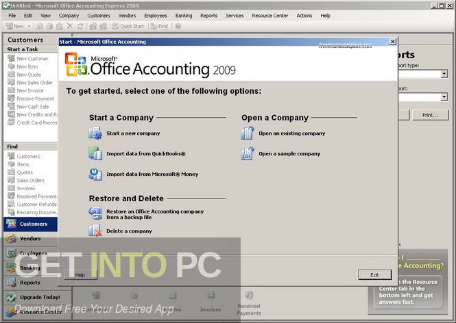 Microsoft Office Accounting Express US Edition 2009 Offline Installer Download-GetintoPC.com