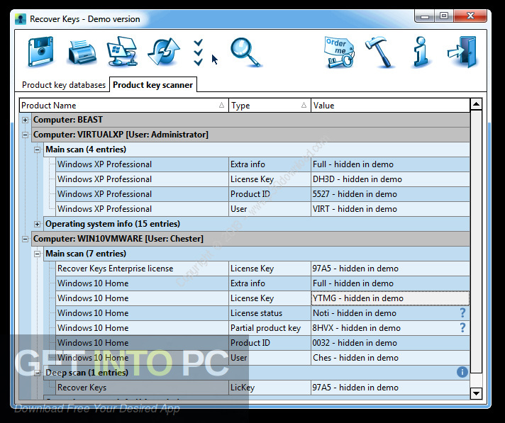 Recover Keys Enterprise Free Download - Get Into PC