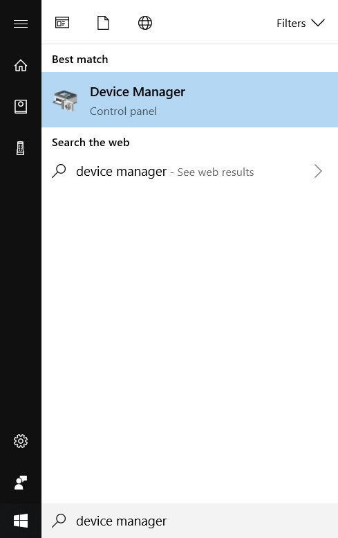 Device Manager- Connected without load