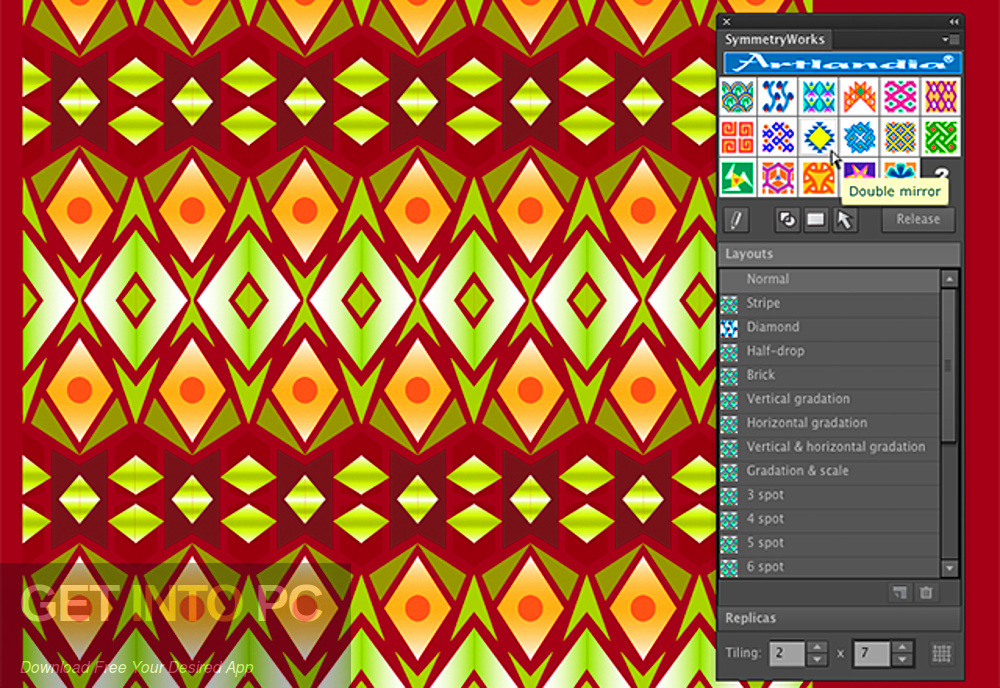 Artlandia SymmetryWorks (plugin for Adobe Illustrator) Latest downloaded version-GetintoPC.com [19659027] Artlandia SymmetryWorks (plugin for Adobe Illustrator) Latest version Download-GetintoPC.com