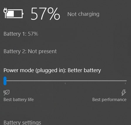 the laptop battery is not charged