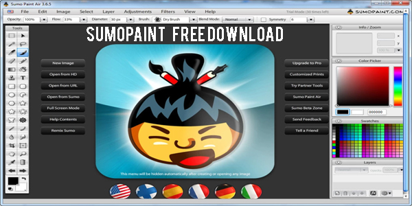 SumoPaint Free Online Editor For Browser Windows