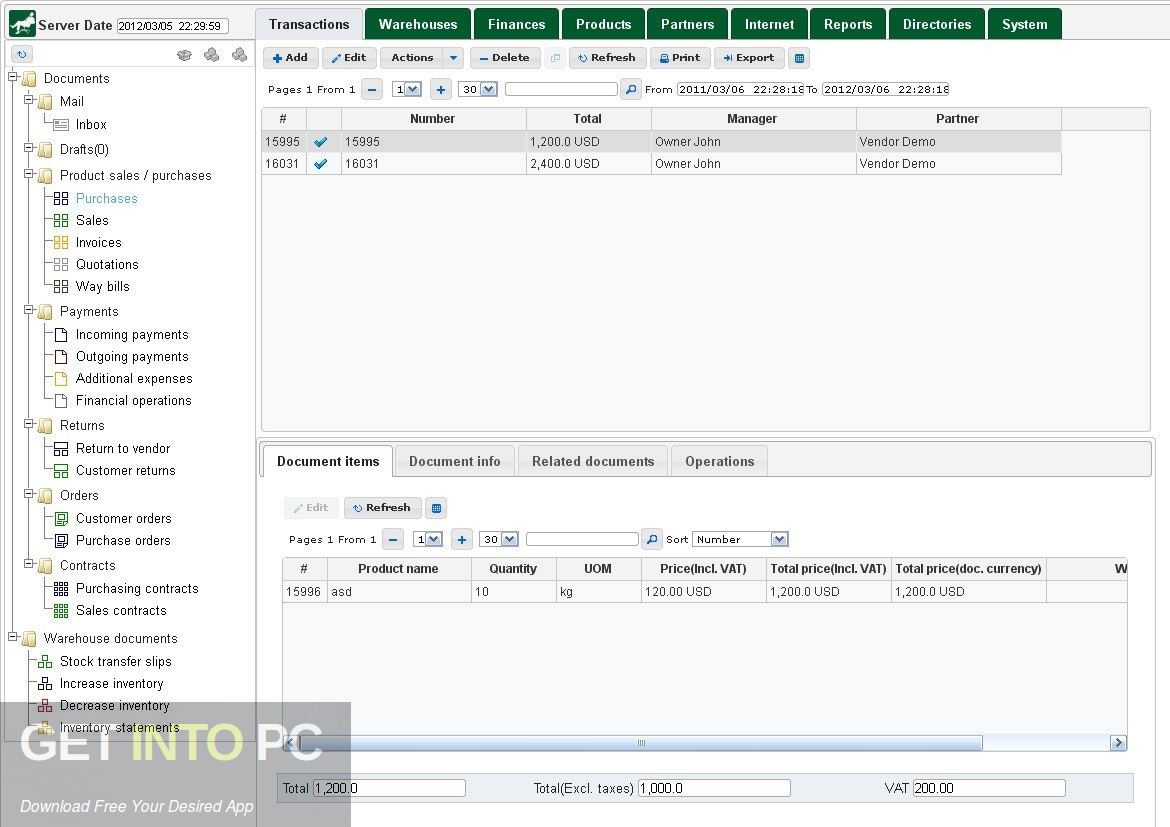Komendant ERP: Small Business Administration, Accounting, CRM 2013 Direct link download-GetintoPC.com