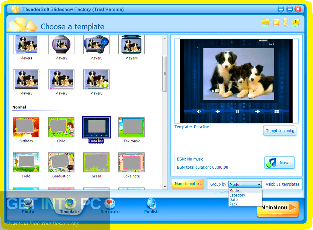 ThunderSoft Slideshow Factory 2019 + Download the template installer download- GetintoPC.com