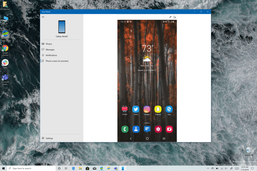 Android Apps on Windows 10? Hands on with Phone Screen in the Your Phone app