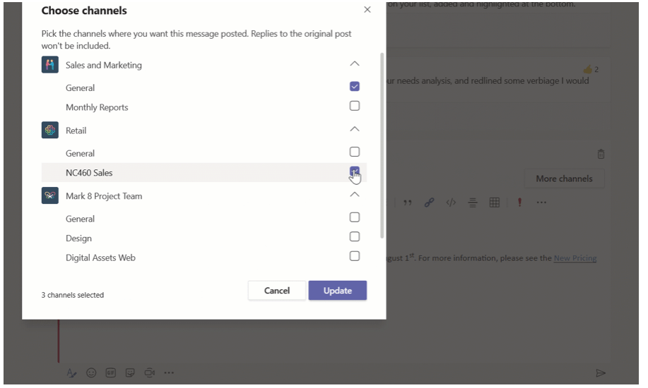 Channel cross posting is coming soon to Microsoft Teams