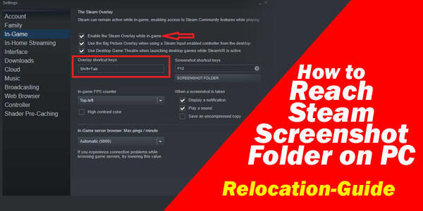 How to Reach Steam Screenshot Folder on PC- Relocation-Guide