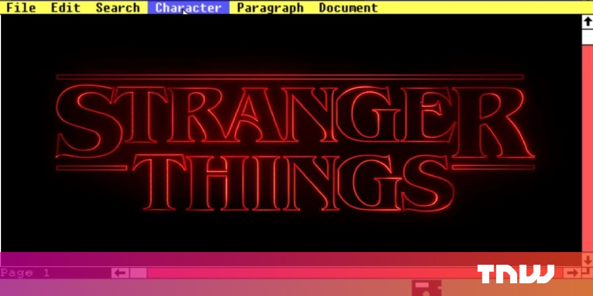 Is Microsoft teasing a Netflix tie-in? Stranger Things have happened