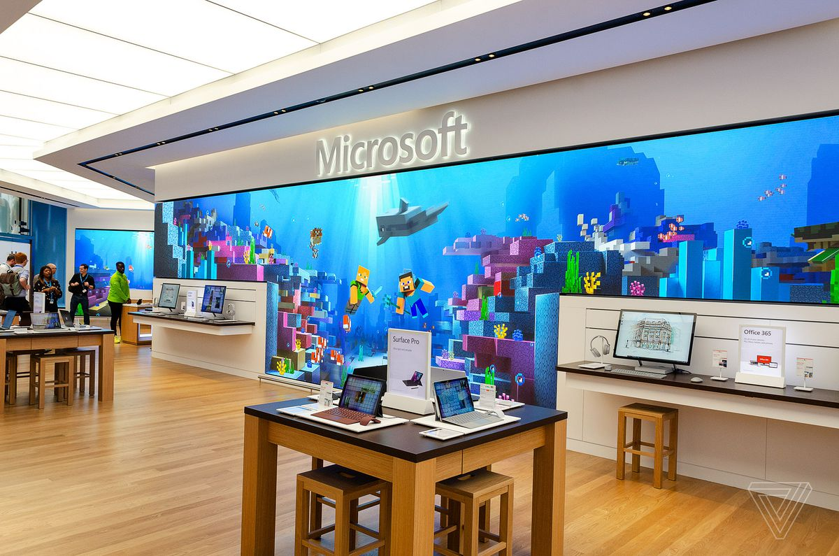 Microsoft's new London store is big, bold, and British
