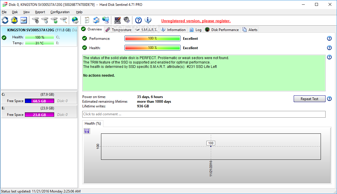 Download direct link from hard disk Sentinel Pro 5.20