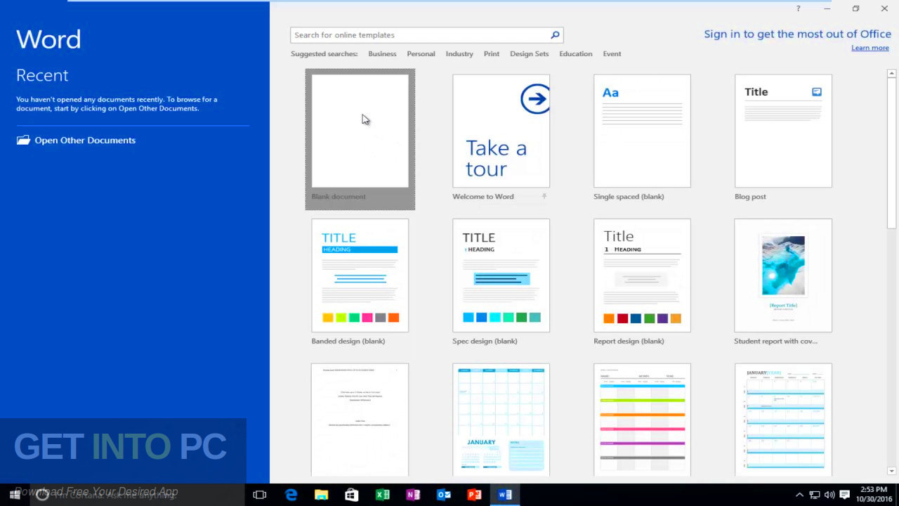 Office 2016 Professional Plus Updated in August 2019 Download the offline installer-GetintoPC.com