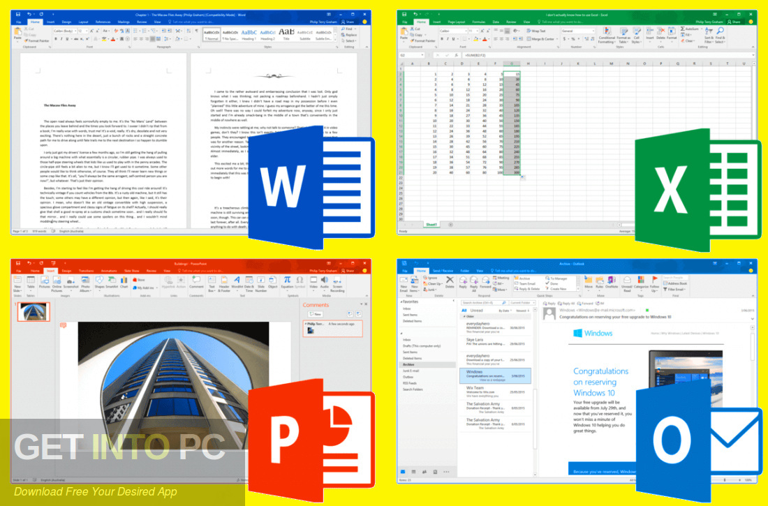 Office 2019 Professional Plus updated in August 2019 Direct link Download-GetintoPC.com