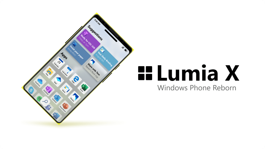 """Designer imagines what a """"Modern OS"""" from Microsoft would look like on a Lumia X flagship phone"""