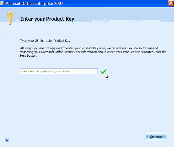 Microsoft Office 2007 free product key