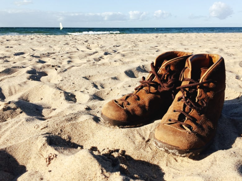 Boots for walking on the beach