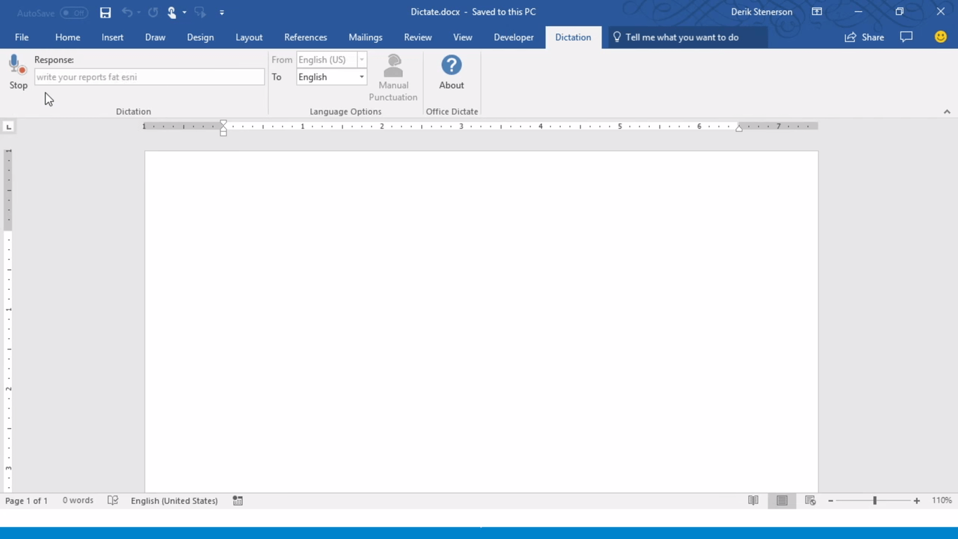 The Microsoft Garage Dictate project is now integrated into Office and Windows
