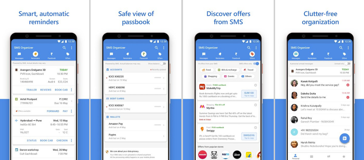 Microsoft's new SMS Organizer app for Android filters out spam messages