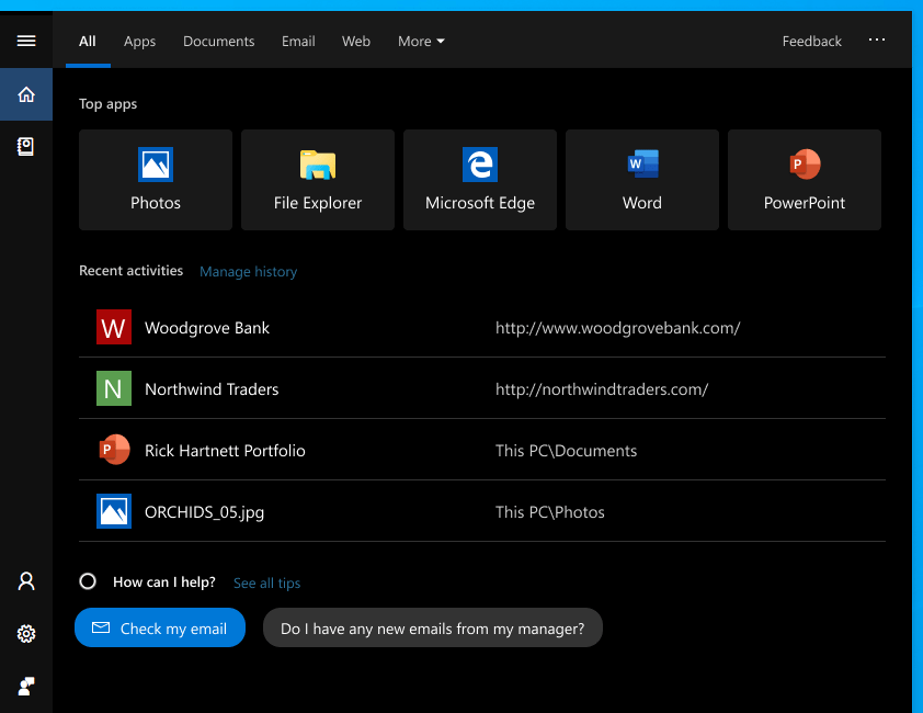 The new Windows Search experience will come to the Windows 10 October 2018 update
