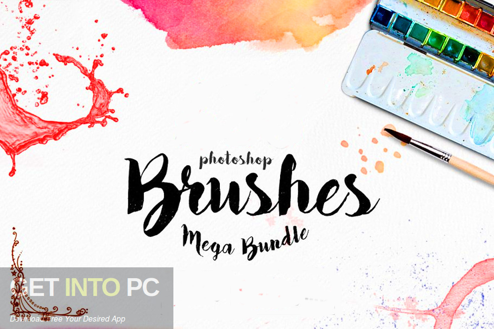 Photoshop Brushes Mega Bundle Download free-GetintoPC.com