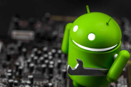 Android icon with spanner