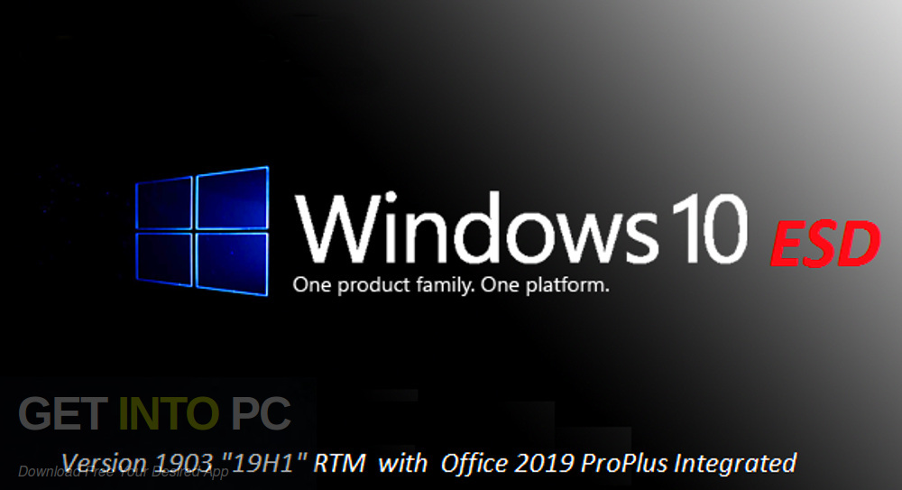 Windows 10 Pro x64 19H1 included Office 2019 Updated in August 2019 Free download-GetintoPC.com