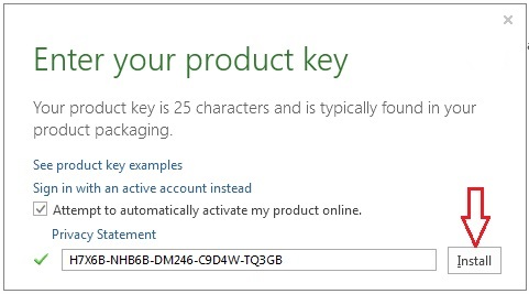 Microsoft Office 2013 free product Password
