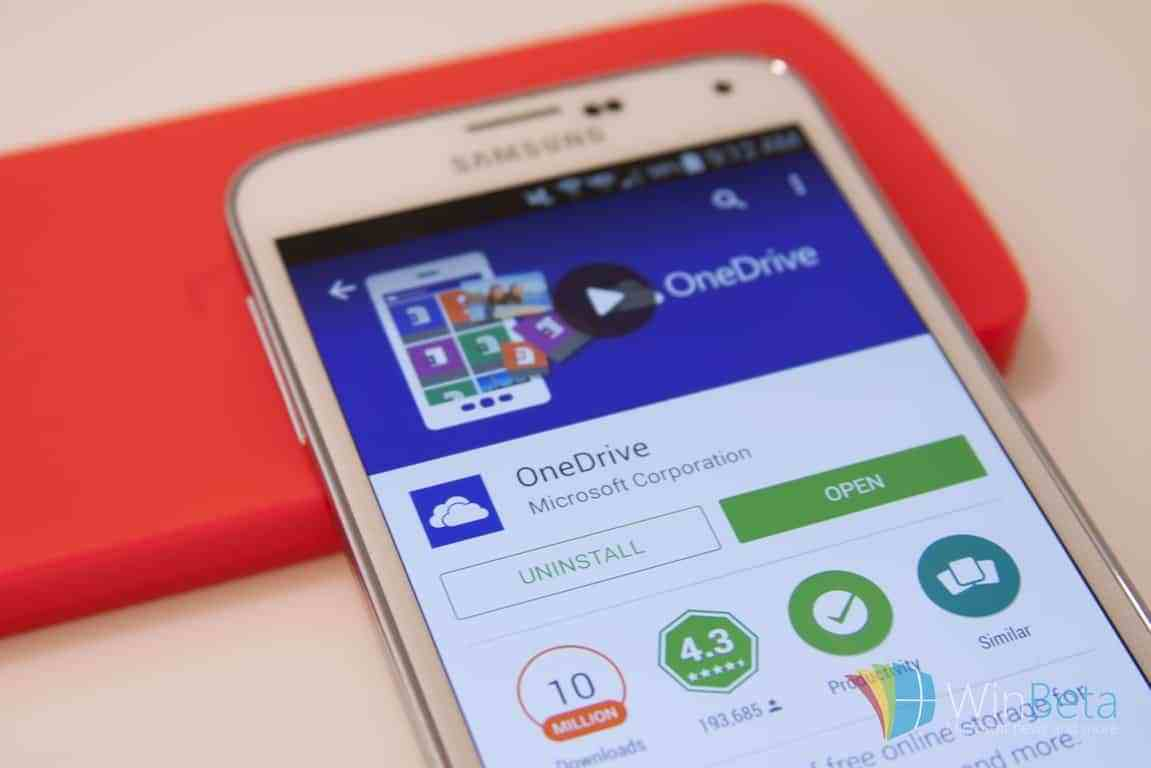 OneDrive on Android has been downloaded over 1 billion times