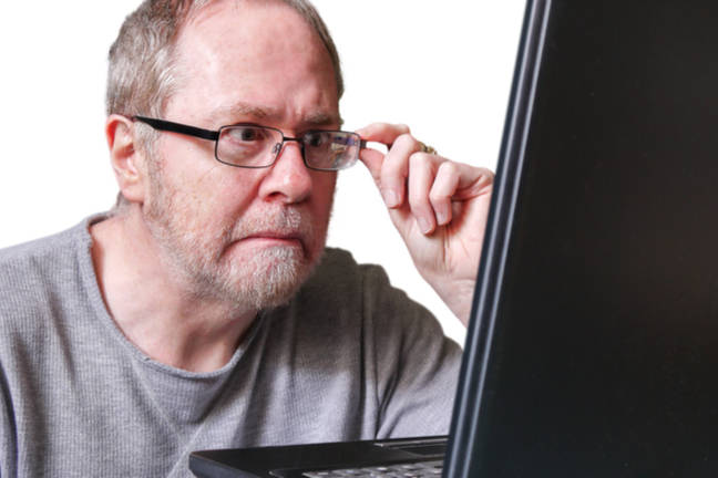 Man possibly shocked at what he