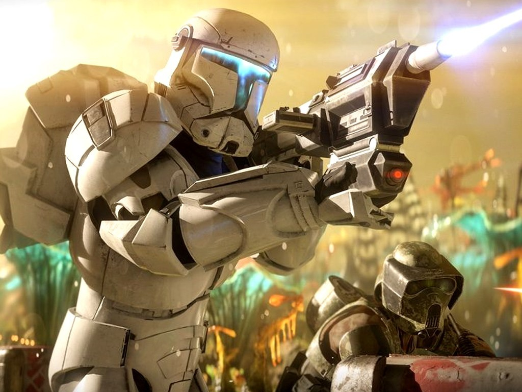Clone Commando in the Star Wars Battlefron II video game on Xbox One