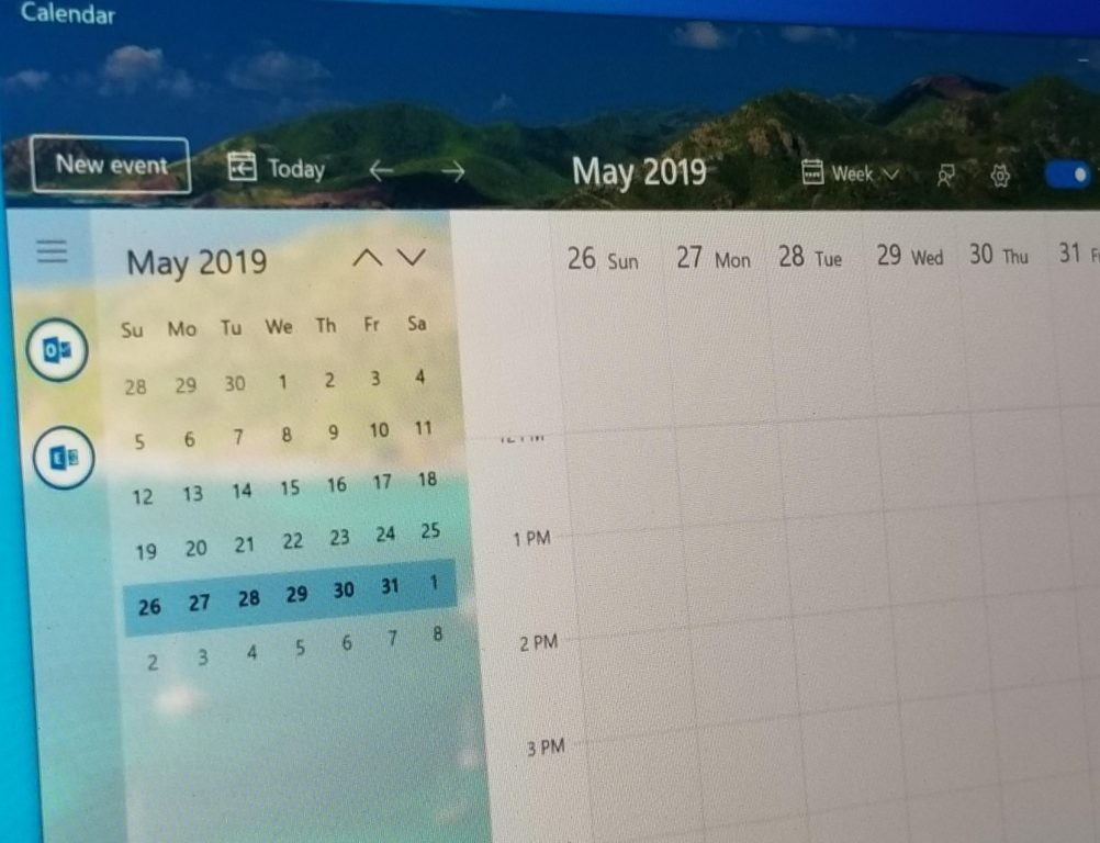 The Windows 10 Calendar application to get a beautiful fluid redesign, this is what it looks like