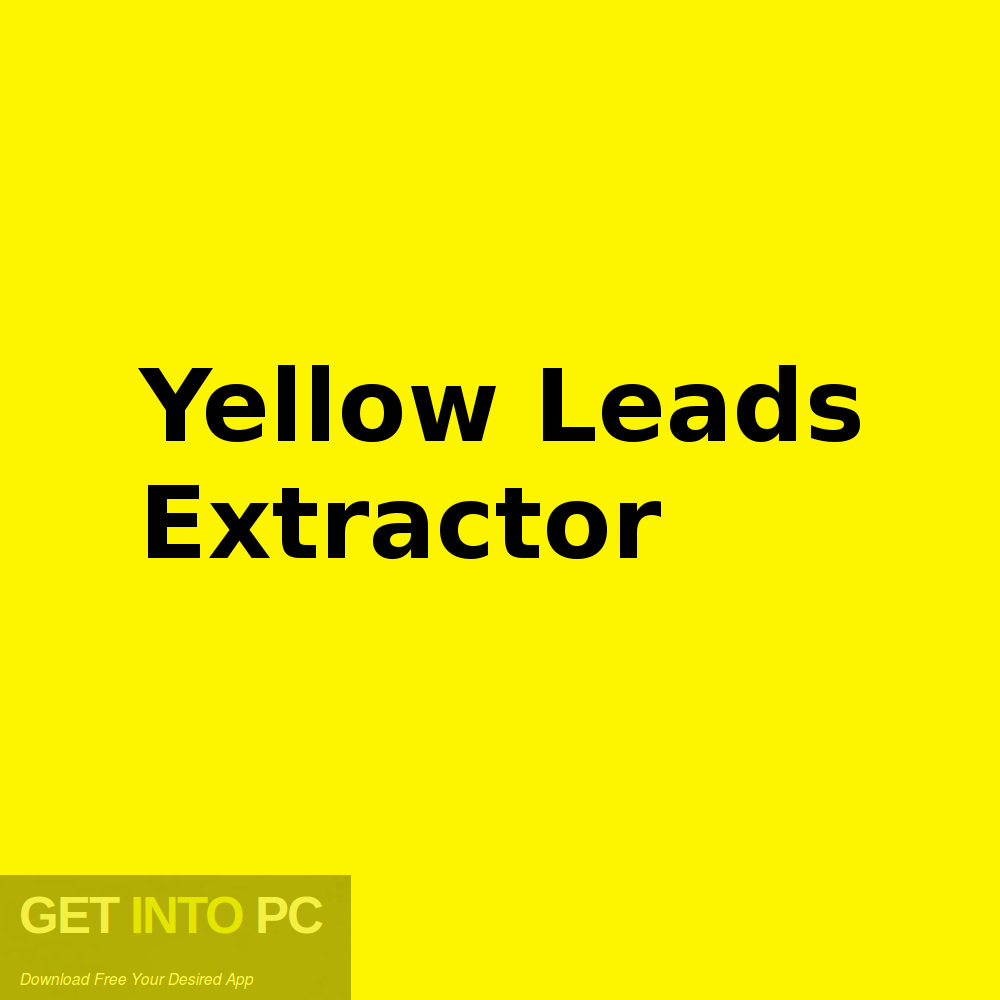 Free download of Yellow Leads Extractor-GetintoPC.com