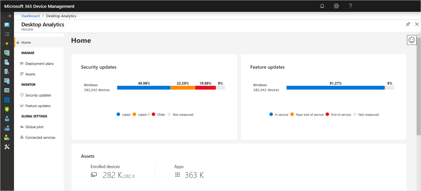 Announcing the general availability of Desktop Analytics