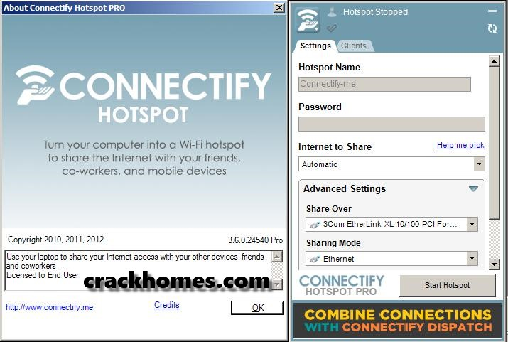 Connectify Hotspot Pro 2018 Crack + Serial Key Free Download