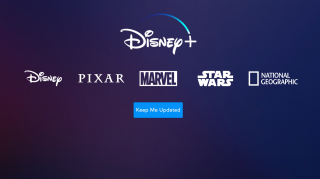 The Disney Plus retention screen showing the different properties will be available with a subscription.