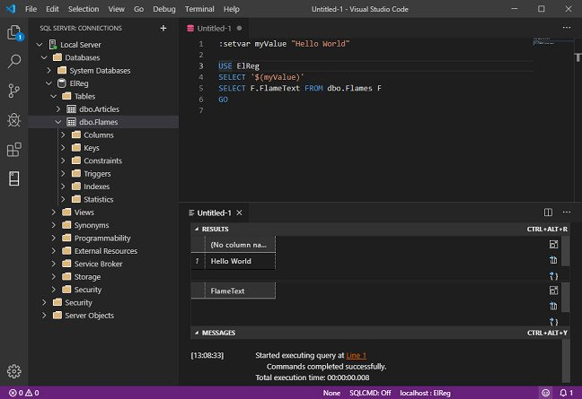 like visual studio code and your data lives in sql server microsoft has something for you