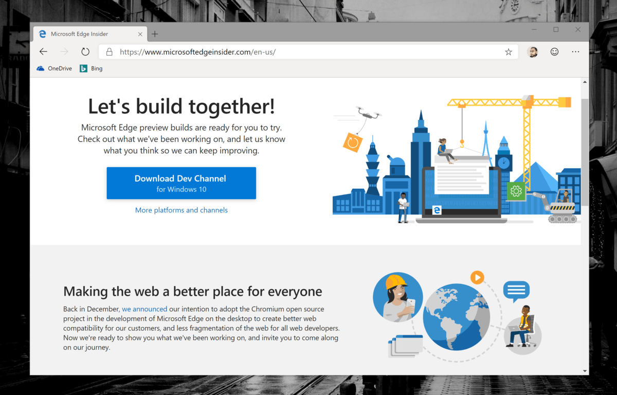 Microsoft Edge Insider Dev channel updated with improved messaging and reporting capabilities
