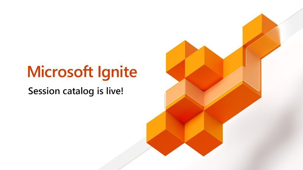 The Microsoft Ignite 2019 session catalog is now available