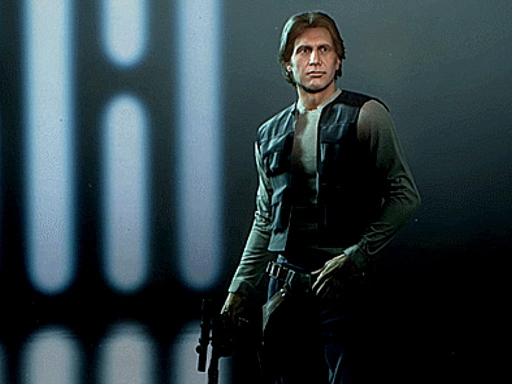 Han Solo mask in the Star Wars Battlefront II video game on Xbox One