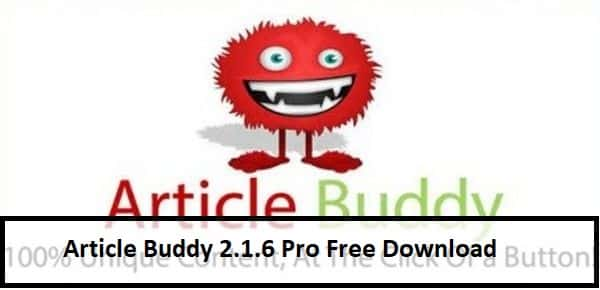 Article Buddy 2.1.6 Pro Free Download (includes product key)